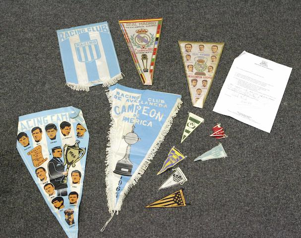 Pennants presented to Bertie Auld