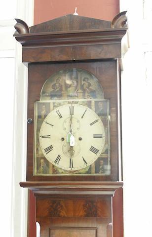 An early Victorian mahogany longcase clock