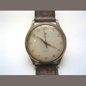 Rolex. A 9ct gold bracelet watch Ref: 16514, 1950's