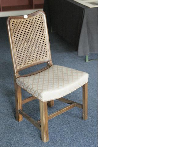 A set of four Whytock & Reid mahogany dining chairs