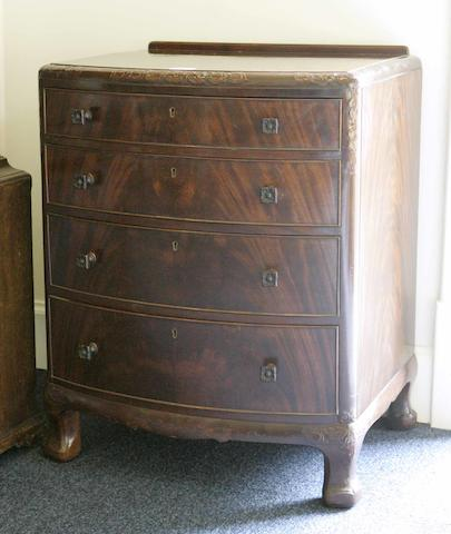 A Whytock & Reid mahogany bowfront chest of drawers