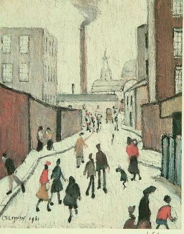 Laurence Stephen Lowry (1887-1976) 'Street Scene'