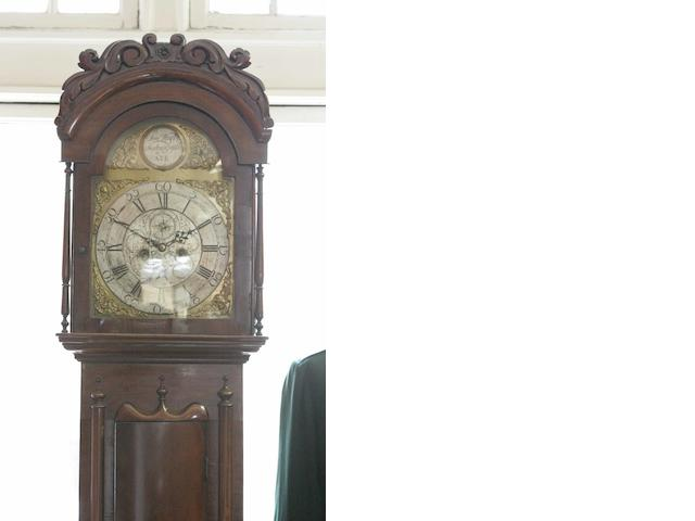 A mahogany longcase clock  Sam Harper, Newton upon Ayr