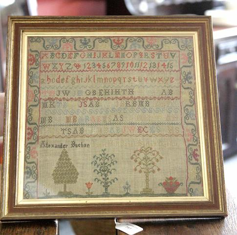 An early 19th century alphabet sampler By Alexander Buchan