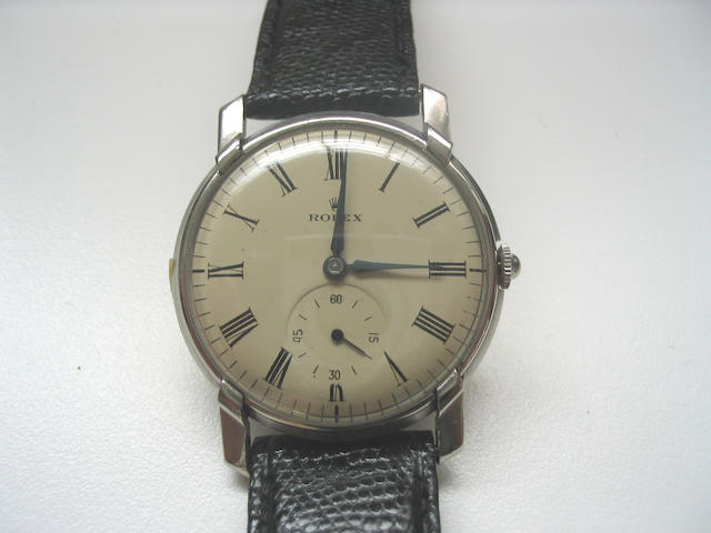 Rolex. A stainless steel wristwatch Ref:4188, 1940's