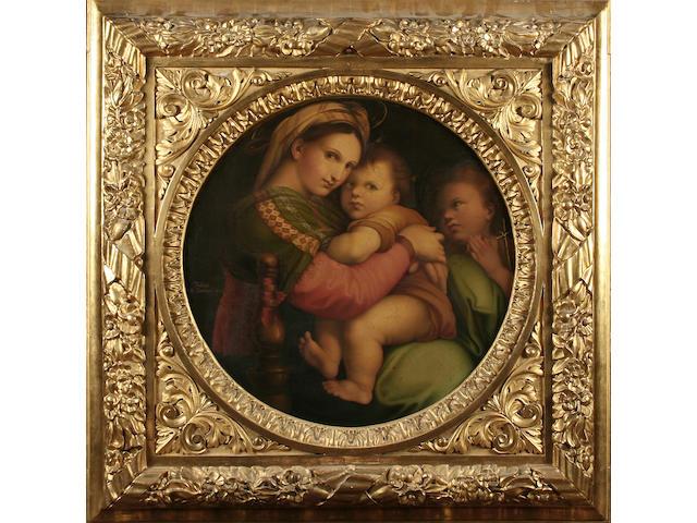 """Carlo Falcini after Raphael, (19th century) The Madonna della Sedia, 74cm (29"""") (diam.)"""