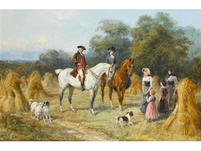 Heywood Hardy (British 1842-1933) A successful harvest 65 x 98 cm. (25 1/2 x 38 1/2 in.)