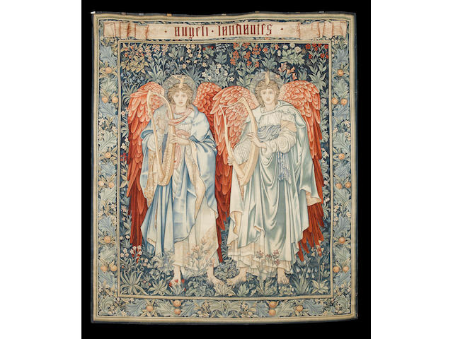 ANGELI LAUDANTES A Morris & Co Merton Abbey tapestry 232 x 202 cm. (91 1/2 x 79 1/2 in.)