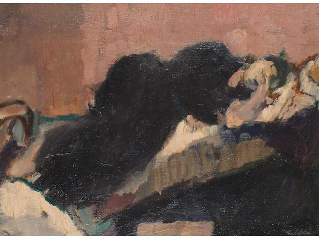 Geoffrey Tibble (British, 1909-1952) Resting Woman.