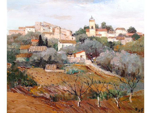 Marcel Dyf (French, 1899-1985) 'Village de Provence.'