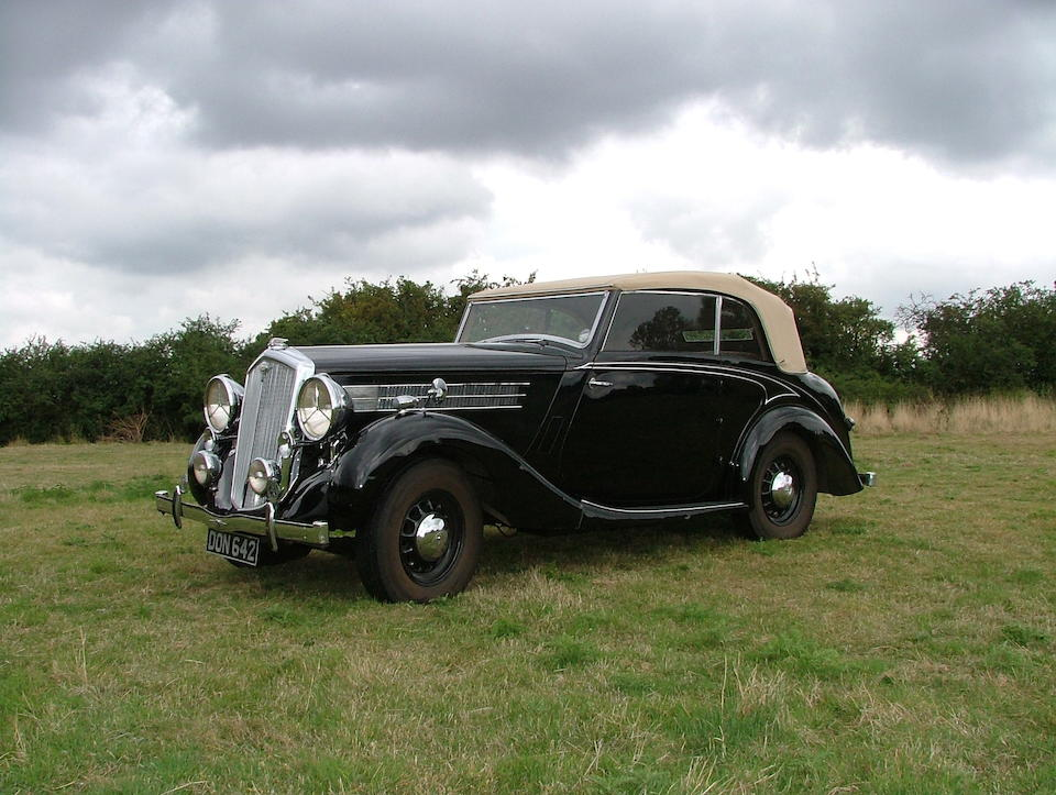 Formerly the personal car of Lord Nuffield,1937 Wolseley Super Six 25 Series III Drophead Coupé  Chassis no. 325/DHC/499 Engine no. OPEW3DHC3310