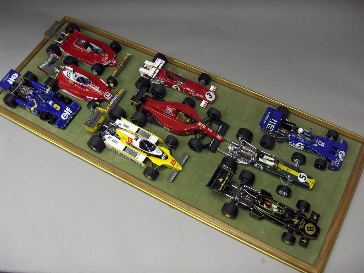 Nine Formula 1 models,