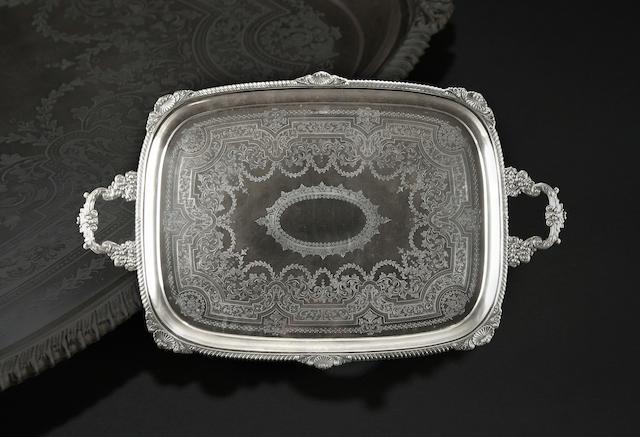 A Victorian rectangular two handled tray By William Mammatt & Son, Sheffield 1898,