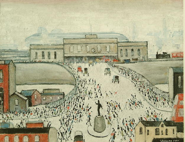 Laurence Stephen Lowry (187-1976) 'Station Approach'