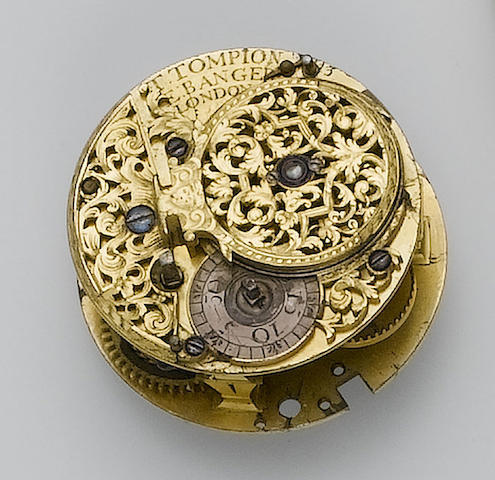 An early 18th century verge pocket watch movement Thomas Tompion and Edward Banger