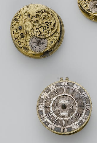 A lot of four early 18th century verge pocket watch movements