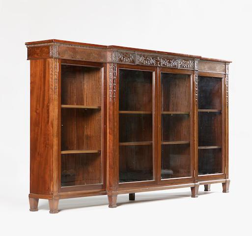 A Whytock & Reid mahogany breakfront dwarf bookcase