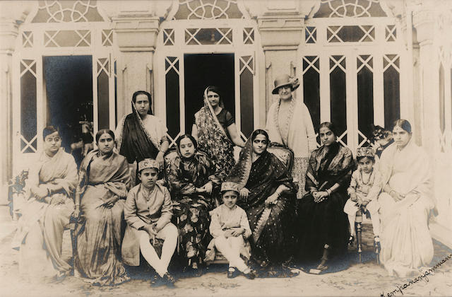 MYSORE A Group of Royal Ladies and Children, c.1900