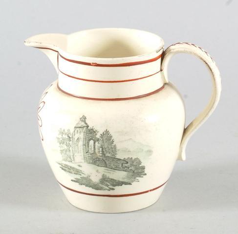 A Swansea creamware jug