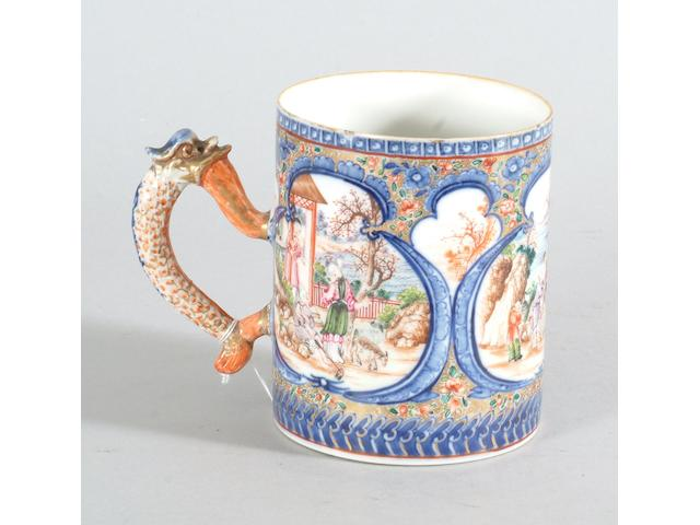 A Chinese export porcelain famille rose mug