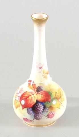 A Royal Worcester bottle vase