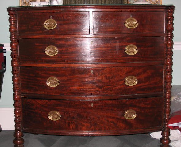 An early 19th Century mahogany bowfront chest of drawers