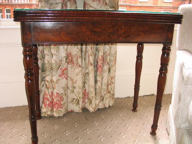 A early 19th Century mahogany rectangular card table