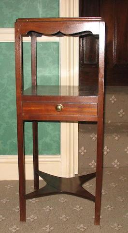 A George III mahogany washstand