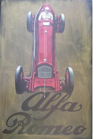 Tony Upson, 'Nuvolari in a 1932 Tipo B Alfa Romeo',