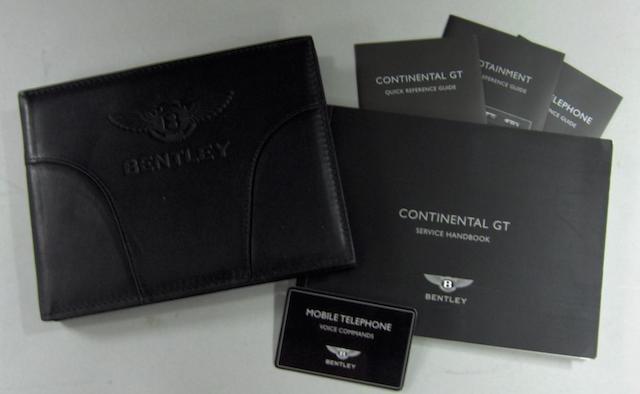 A Bentley Continental GT Owners Handbook,