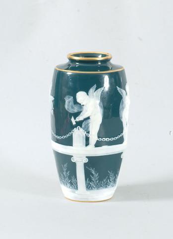 A Minton pâte-sur-pâte vase by Alboin Birks