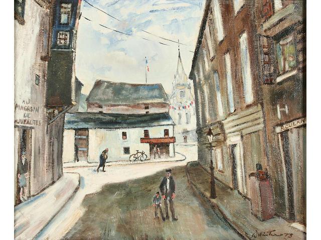 """William Turner (b. 1920) """"Cremieu La Rue, St. Romain"""","""
