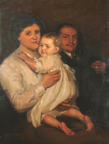 William Charles Penn (British, 1877-1968) A family portrait.
