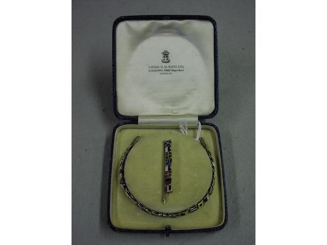 A 9ct gold and enamel International code of signals flag bracelet, 2