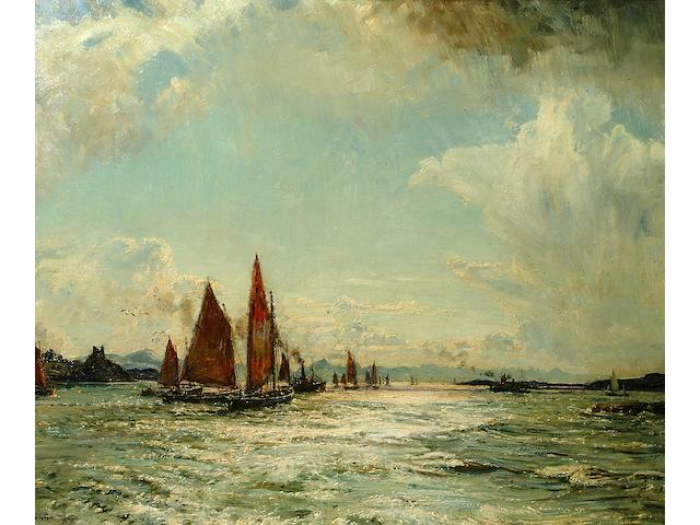 Herbert F. Royle (1870-1958) 'The Kyle of Lochalsh'