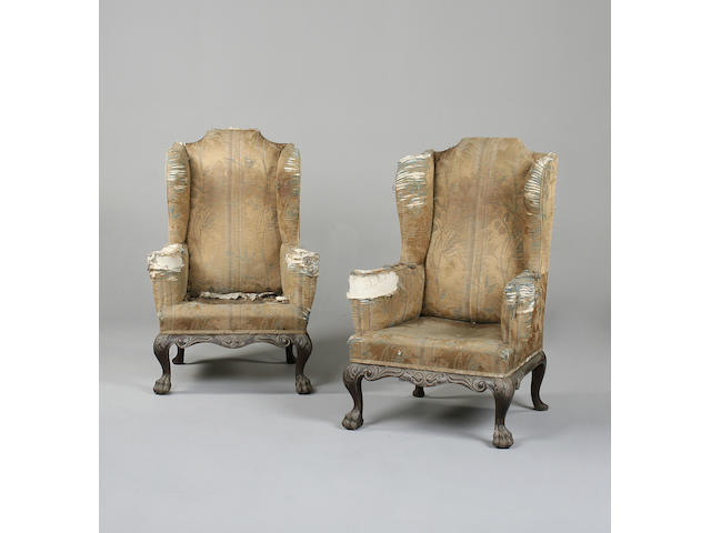 A good pair of Chippendale revival mahogany armchairs