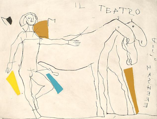 Marino Marini (Italian, 1901-1980) Presentazione I (Guastalla A160) from `Il Theatro delle Macchere`