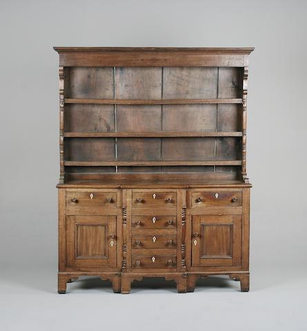 An early 19th century oak dresser