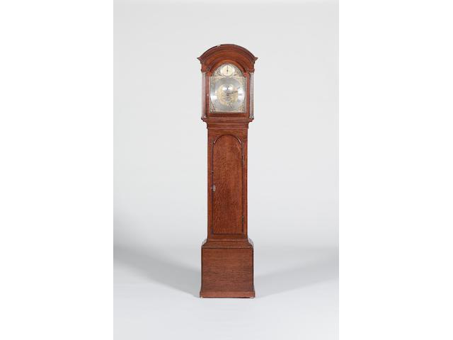 A late 18th century oak longcase clock Signed Richard Comber, Lewes