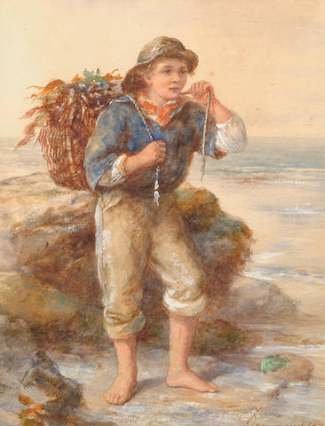 James Drummond (British, 1816-1877) The Seaweed Gatherer.