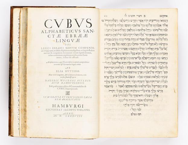 BIBLE, in Hebrew Via Sancta... Biblia Sacra