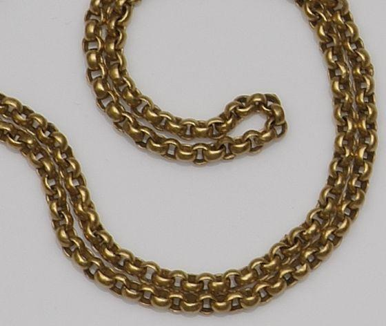 A belcher-link chain necklace