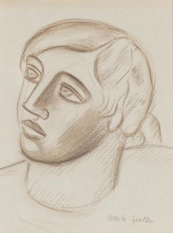 Mark Gertler (1892-1939) Portrait of Jean Kemp Hogh 19 x 15 cm. (7 1/2 x 5 7/8 in.)