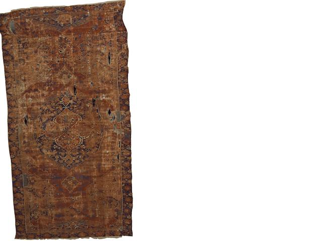 A 17th century Ushak carpet West Anatolia, 15 ft 5 in x 7 ft 10 in (470 x 240 cm) some wear