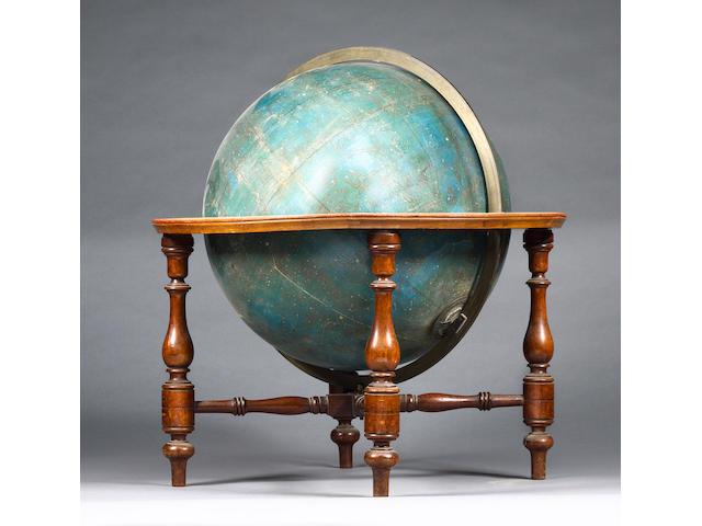 An 18-inch W & A K Johnston celestial globe, Scottish, published 1879,