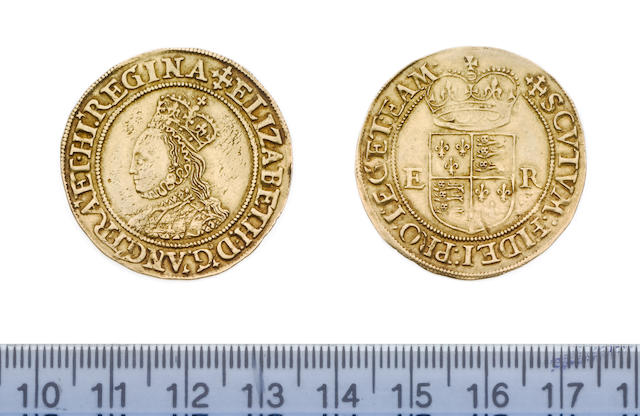 Elizabeth I, second issue (1558-1603), Half-Pond, 5.60g, bust 3c, neat crowned bust left, incuse dots on dress between plain straps, ELIZABETH D G ANG FRA ET HI REGINA,