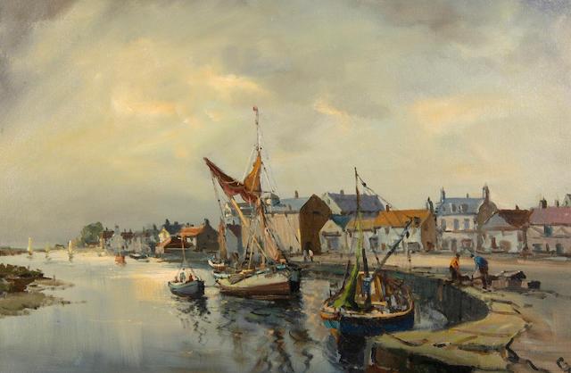 Jack Cox (Contemporary) Wells harboour 51 x 76.5cm (20 x 30in).