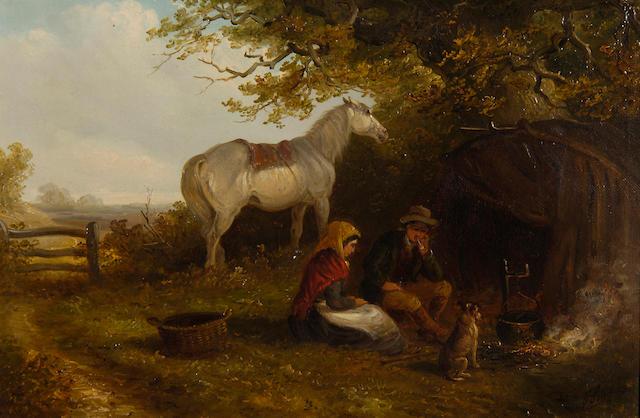 Thomas Smythe (1825-1906) By the camp fire