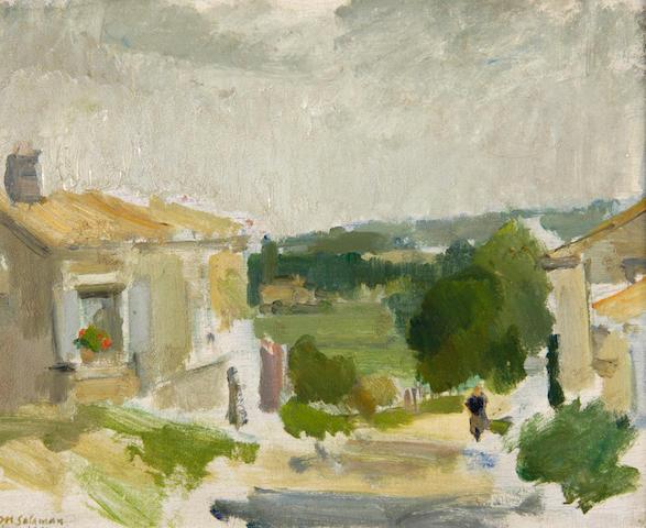 Michael Salaman (1911-1987) 'Dignac in rain' 22 x 27cm (8½ x 10½in).