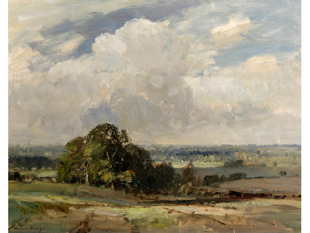 Edward Brian Seago, R.B.A., R.W.S. (1910-1974) The Waveney Valley, Norfolk 50.5 x 66cm (20 x 26in).